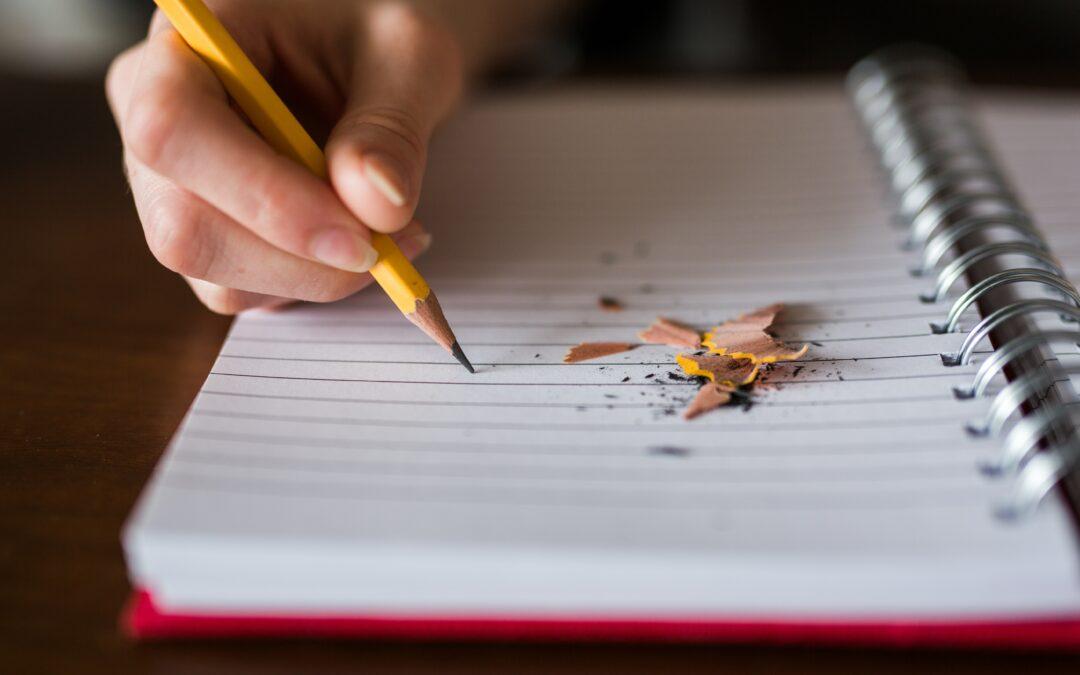 Schrijven tot je erbij neervalt