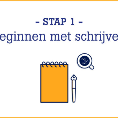 stap 1: beginnen met schrijven